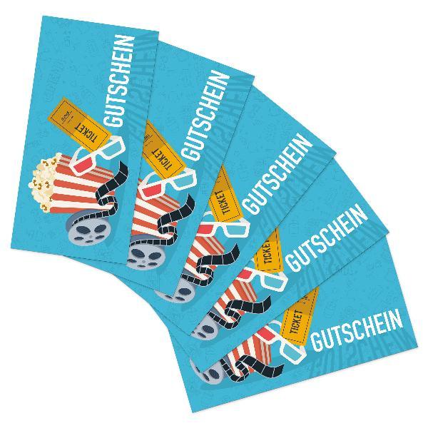 itenga 25x Geschenkgutschein Kinoticket (Motiv 1), Postk...
