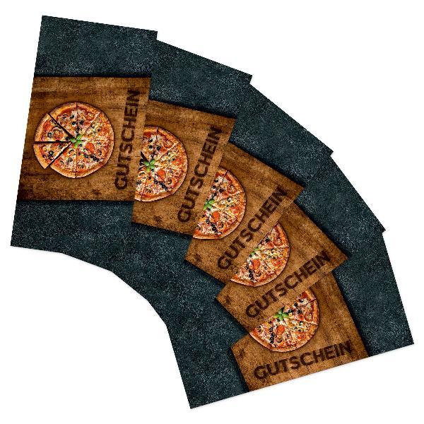 itenga 25x Geschenkgutschein Pizza Holzbrett (Motiv 4), ...