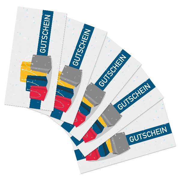 itenga 25x Geschenkgutschein Shopping (Motiv 9), Postkar...