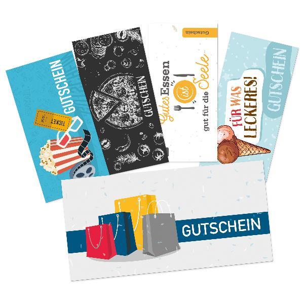 itenga 5x Geschenkgutschein Set Gemischt Postkarten zum ...