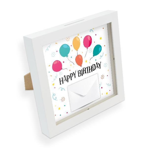 itenga Bilderrahmen Geldgeschenk Happy Birthday Luftball...