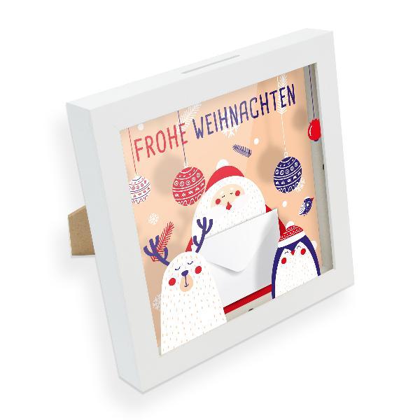itenga Bilderrahmen Geldgeschenk Weihnachten Figuren (Mo...