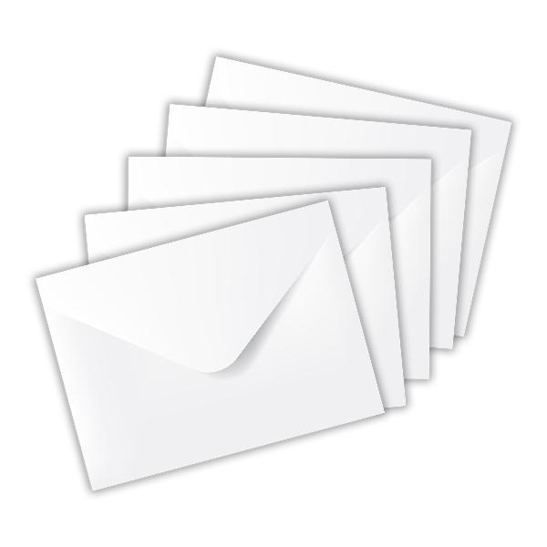 itenga 50x Mini-Briefumschlag Weiß, als Geldumschlag / G...