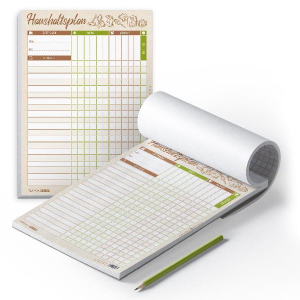 itenga Haushaltsplan DIN A4 Hochformat Block 50 Seiten V...