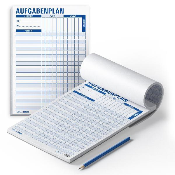 itenga Aufgabenplan DIN A4 Hochformat Block 50 Seiten Bl...