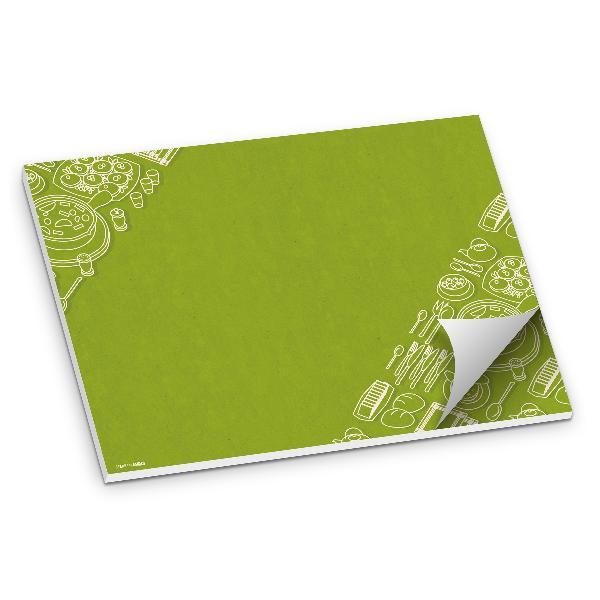itenga Tischset grün 50 Blatt Papier DIN A3