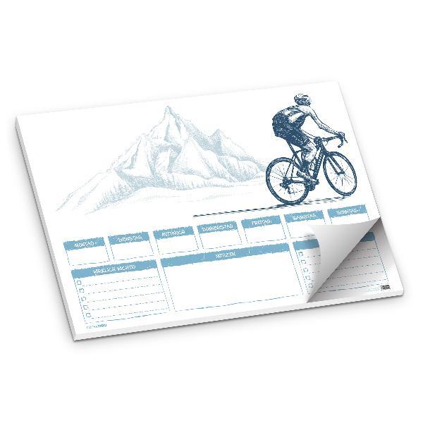 itenga Schreibtischunterlage Fahrrad DIN A2 50 Blatt