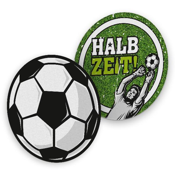 itenga 40x Bierdeckel Fußball Halbzeit Untersetzer 10,7cm