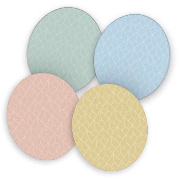 itenga 40x Bierdeckel rund Geometrie Pastell Muster Unte...