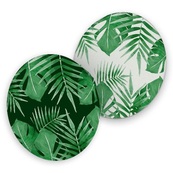 itenga 40x Bierdeckel rund Tropische Blätter