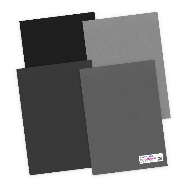 itenga Fotokarton - A4 300 g/qm 24 Blatt - Grautöne - 4 ...