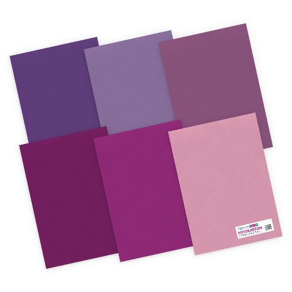 itenga Fotokarton - A4 300 g/qm 24 Blatt - Lila und Pink...