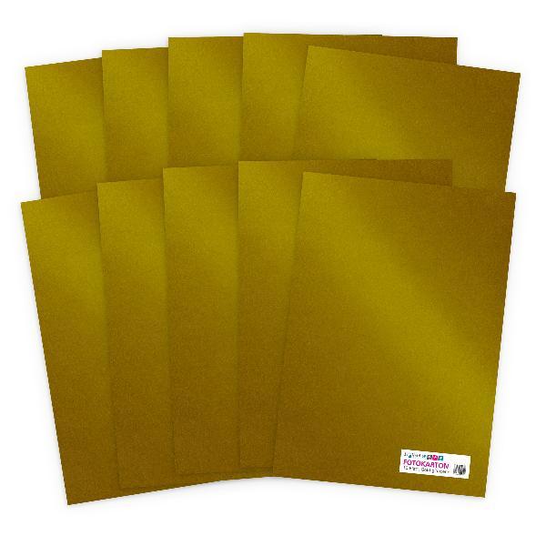 itenga Fotokarton - A4 300 g/qm  10 Blatt Gold glänzend