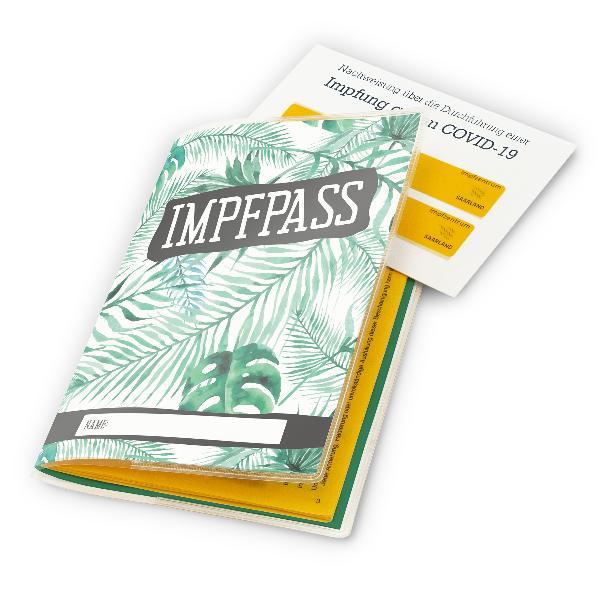 itenga Design Impfpasshülle  Motiv Palmenblätter