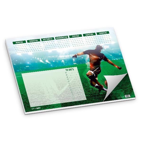 itenga Schreibtischunterlage Fußballer DIN A3 50 Blatt