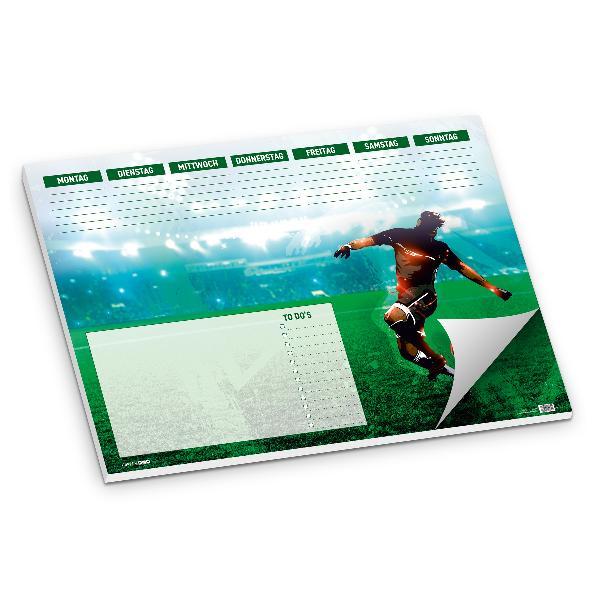 itenga Schreibtischunterlage Fußballer DIN A2 50 Blatt