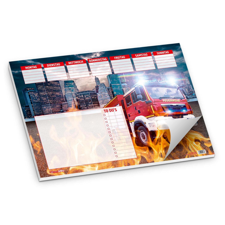 itenga Schreibtischunterlage Feuerwehr DIN A3 50 Blatt