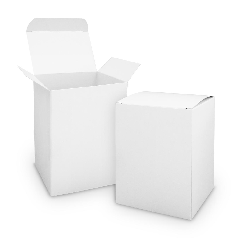 10x itenga Faltschachtel eckig aus Karton 9x812cm weiß G...