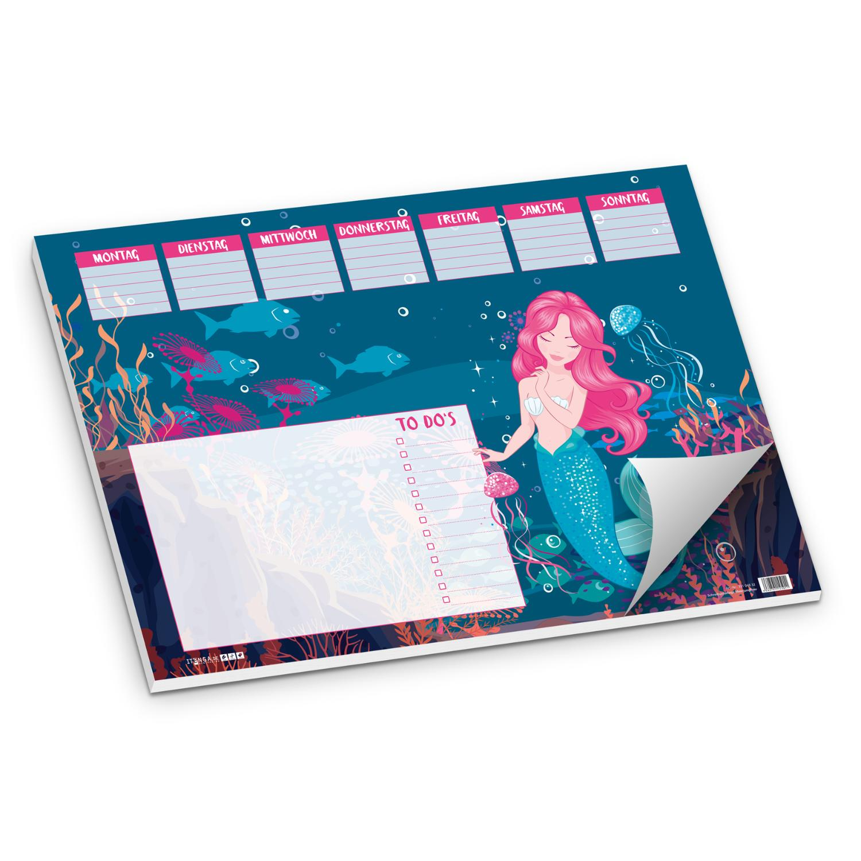 itenga Schreibtischunterlage Meerjungfrau DIN A3 50 Blatt
