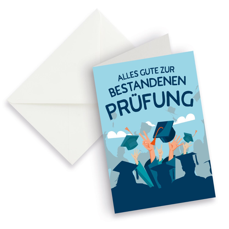 itenga XXL Klappkarte DIN A4 Alles Gute zur Prüfung und ...