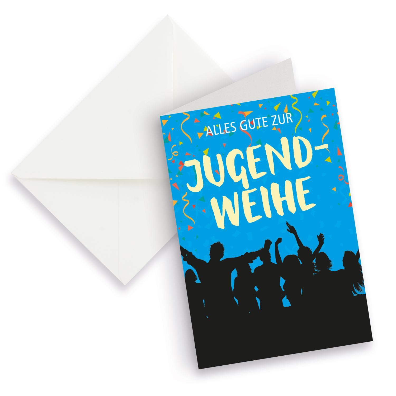 itenga XXL Klappkarte DIN A4 Alles Gute zur Jugendweihe ...