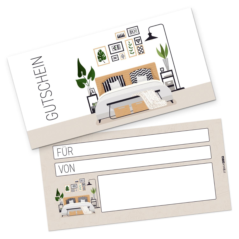 itenga Geschenkgutschein Hotel / Übernachtung Postkarte ...