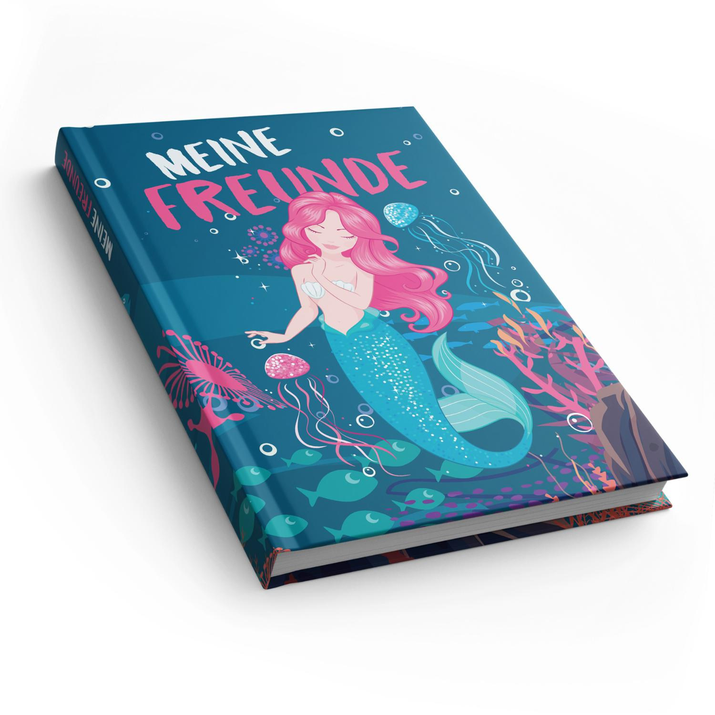 itenga Freundebuch Meerjungfrau DIN A5, 88 Seiten 150g N...