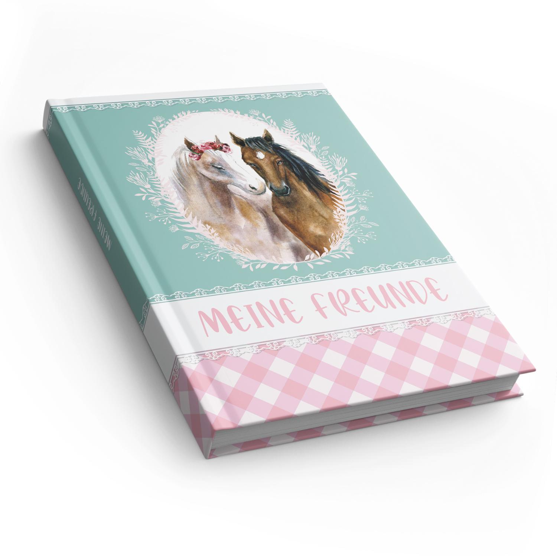 itenga Freundebuch Pferde DIN A5, 88 Seiten 150g Naturpa...