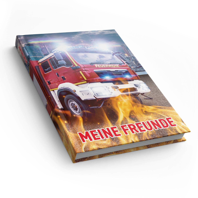 itenga Freundebuch Feuerwehr DIN A5, 88 Seiten 150g Natu...