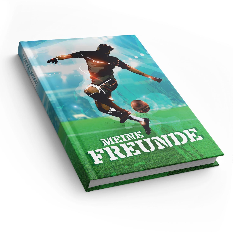 itenga Freundebuch Fußball DIN A5, 88 Seiten 150g Naturp...