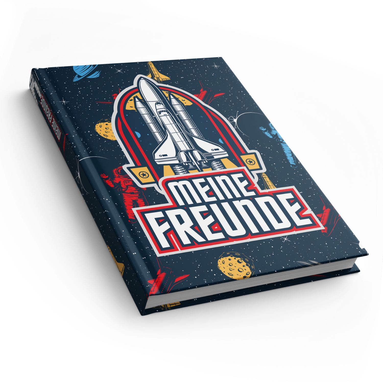 itenga Freundebuch Weltraum DIN A5, 88 Seiten 150g Natur...