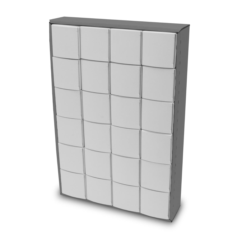 itenga Adventskalender zum Füllen Würfel 5cm (außen grau)