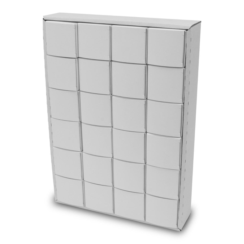itenga Adventskalender zum Füllen Würfel 6,5cm weiß