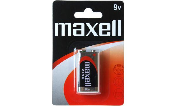 maxell Zink Batterie, E-Block 9V, 6F22, 1er Blister