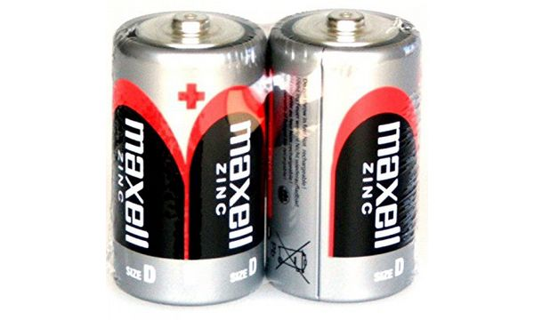 maxell Zink Batterie, Mono D, 2 Pack Shrink