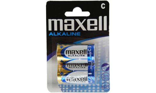 maxell Alkaline Batterie, Baby C, 2er Blister
