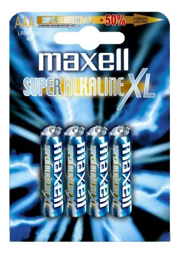 maxell Alkaline Batterie SUPER, Micro AAA, 4er Blister