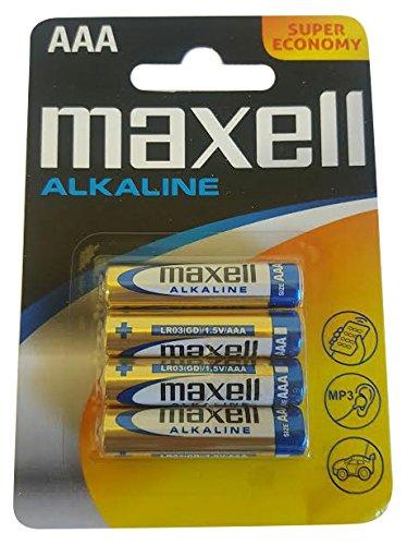 maxell Alkaline Batterie, Micro AAA, 4er Blister