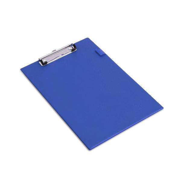 RAPESCO Klemmbrett Standard, A4, PVC-Folienüberzug, blau
