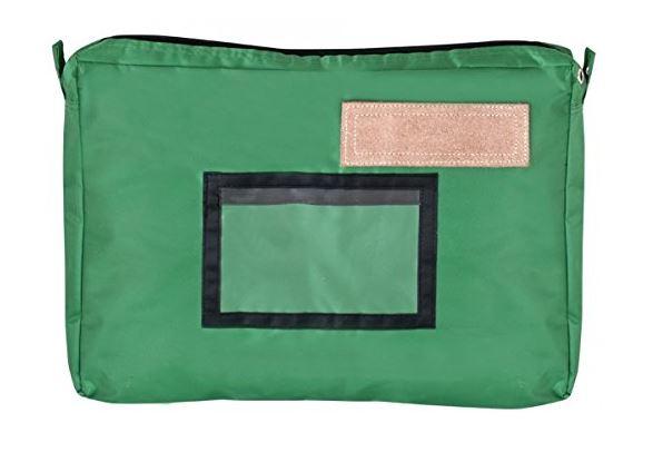 JPC Banktasche mit Dehnfalte, aus Nylon, grün