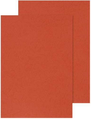 Q-CONNECT Einbanddeckel Leder A4 rot