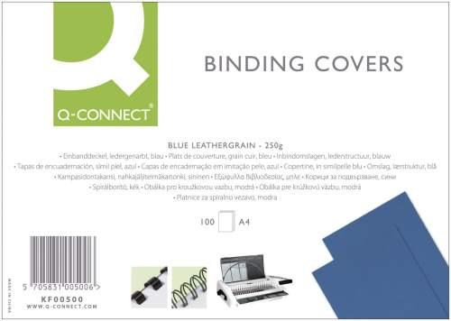 Q-CONNECT Einbanddeckel Leder A4 blau