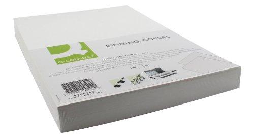 Q-CONNECT Einbanddeckel Leder A4 weiß