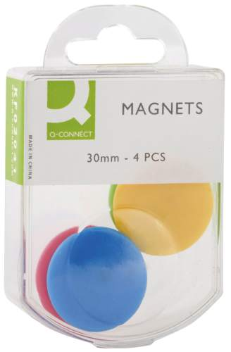 Q-CONNECT Magnet D30mm sortiert
