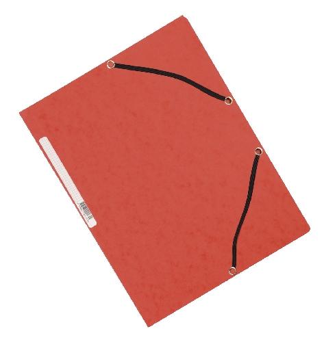 #10xGummizugmappe Karton rot