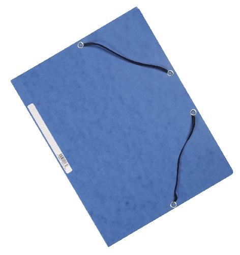 #10xGummizugmappe Karton blau