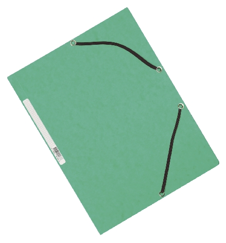 #10xGummizugmappe Karton grün