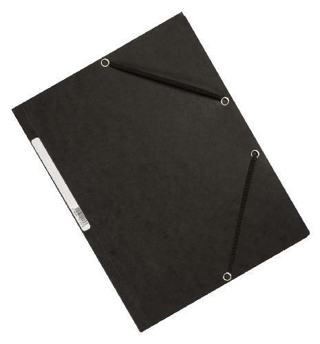 #10xGummizugmappe Karton schwarz