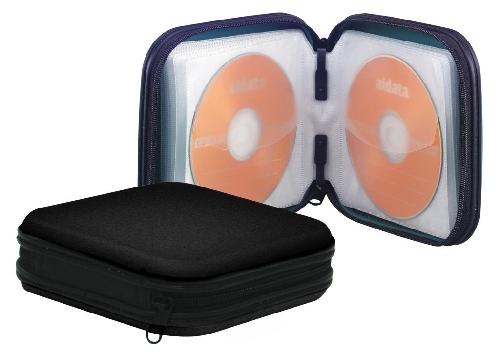 CD-Wallet für 24 CDs schwarz