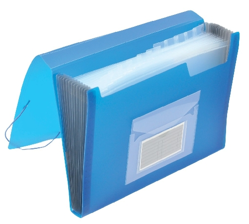 Q-CONNECT Fächertasche transl.blau